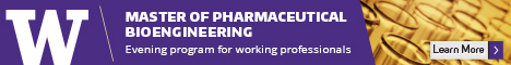 Earn a Master's in Pharmaceutical Bioengineering part-time, in the evenings at UW. Learn more.